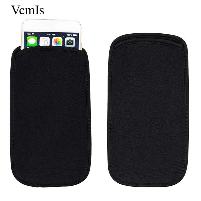 Funda Universal de moda elástica negra para Ark Elf S8/Benefit Note 1/Phantom 1 funda de teléfono bolsa impermeable de neopreno