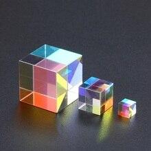 Cube de verre optique défectueux croix dichroïque prisme miroir combinateur séparateur décor 10x10mm 18x18mm 5x5mm Module Transparent jouet