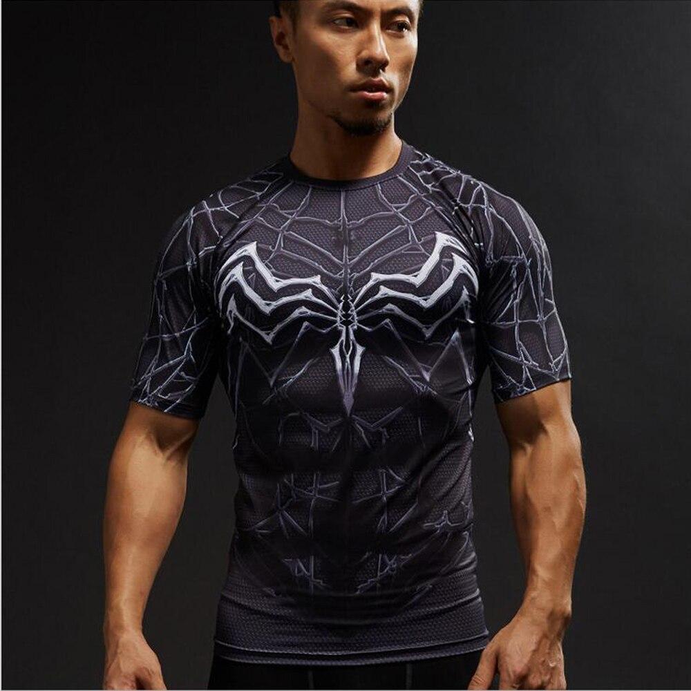 Thor Superman 3D Print t shirts Men Compression fitness shirts Superhero Tops costume Short Sleeve Fitness Gym T-shirts