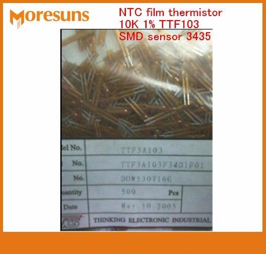 Fast Ship Grátis 100 pcs filme NTC termistor sensor de sensor de temperatura k 1% TTF103 10 SMD 3435