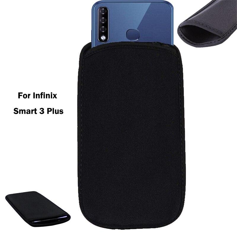Для Infinix Smart 3 Plus гибкий неопреновый защитный черный чехол для Infinix Smart 3 Plus эластичные рукава универсальная сумка чехол