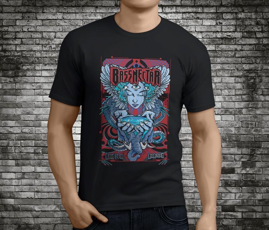 Nuevo Bassnectar espectro divergente Electro música negro camiseta tamaño S-3XL cómoda camiseta, camiseta de manga corta Casual