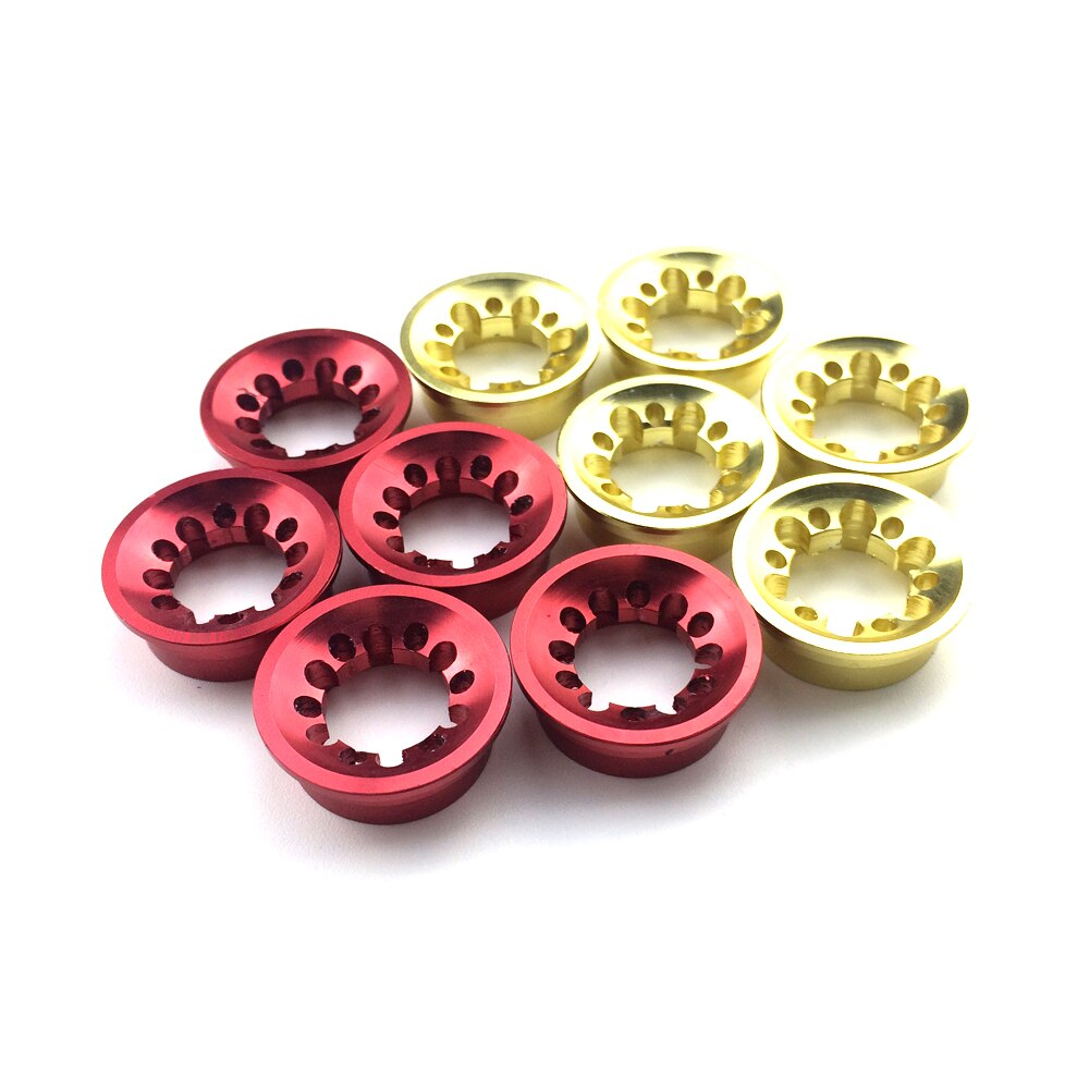 Plum BlossomTrim ring Aluminum Winding Check Decorative ring  DIY Fishing Rod part  Repair components 4 pcs gold color ID 11mm