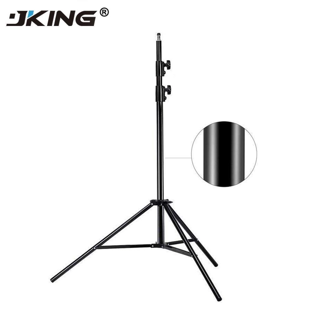 JKING 2 M soporte de luz trípode de vídeo con cabezal de tornillo 1/4 peso de cojinete 5 KG para Flash Softbox de estudio de cámara reflector de iluminación