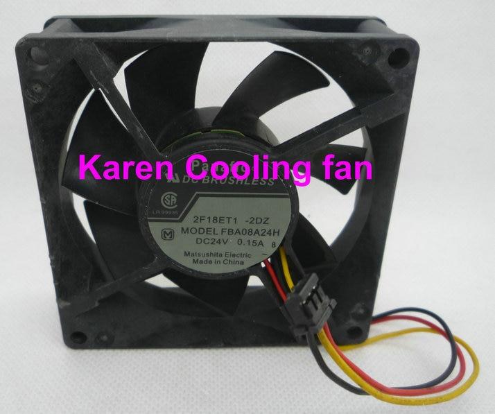 New Original NMB 8CM FBA08A24H 8025 24V 0.15A Cooling Fan