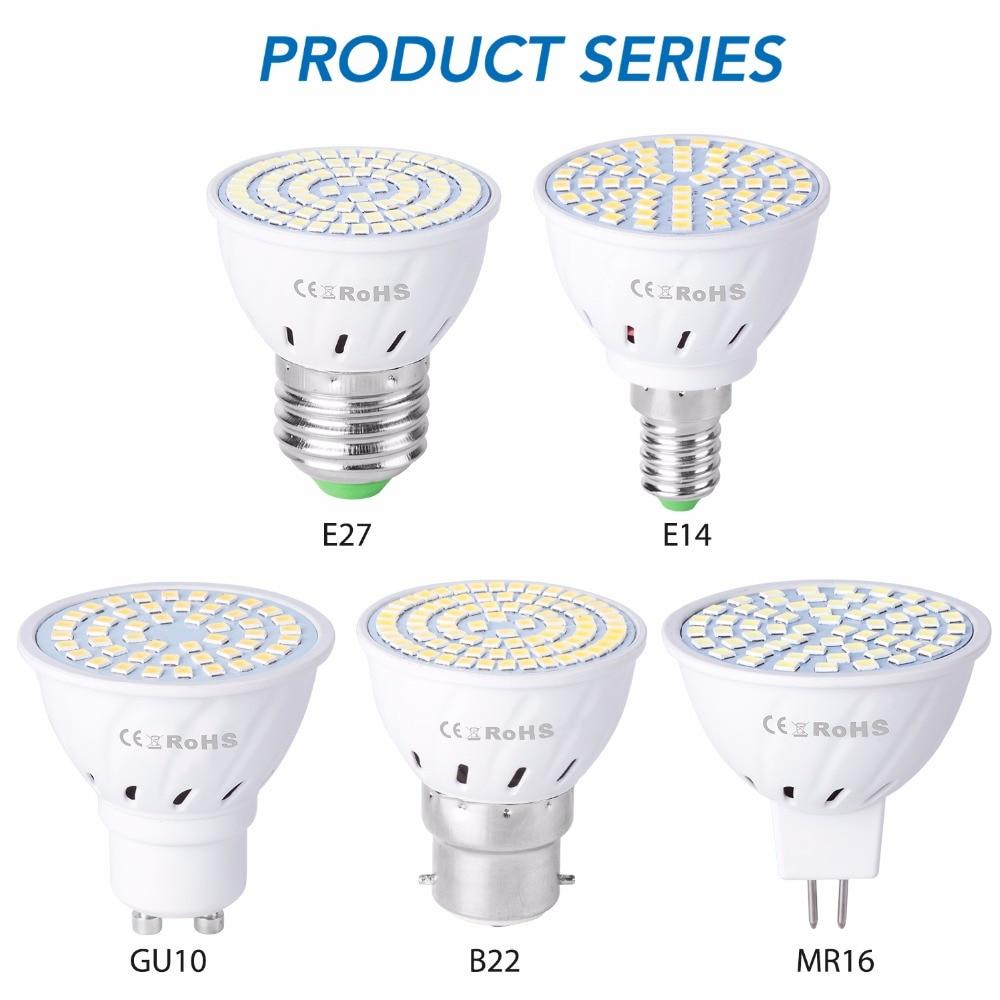 GU10 светодиодный E27 лампа MR16 лампада светодиодный 220V GU 10 светильник Кукуруза лампы MR16 3 Вт 5 Вт 7 Вт Bombillas светодиодный E14 точечный светильник ла...