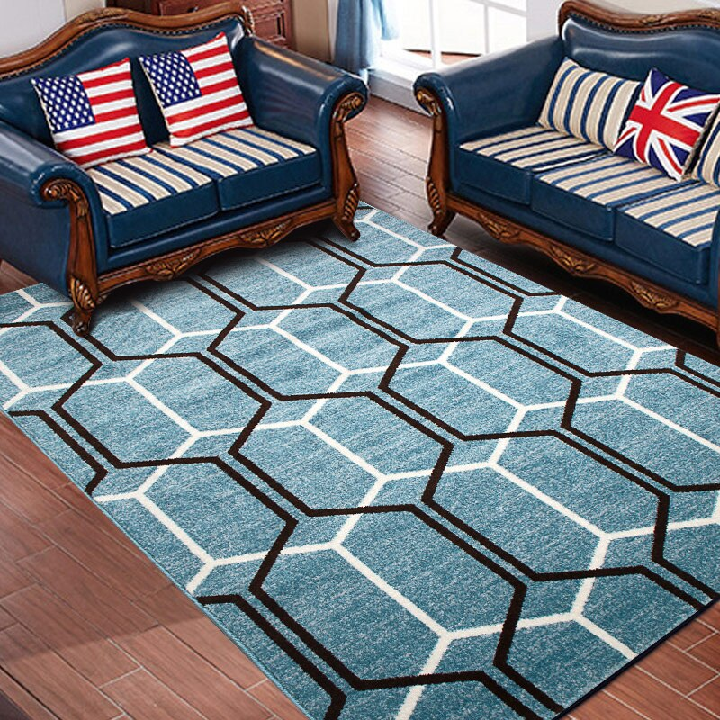 Tapete de mesa de té con diseño de borde de tessel, alfombra de algodón para mesita de noche, sala de estar, Tapis salon