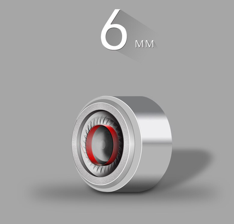 1pair(2pcs) NICEHCK 6mm In Ear Earphone Speaker Unit For HIFI Headphones DYI Moving Coil Bass Subwoofer Speaker Accessories