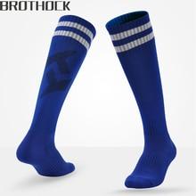 Brothock chaussettes de Football longue plus épaisse pure adulte et enfants chaussettes de football formation été serviette chaussettes de sport bas de Football