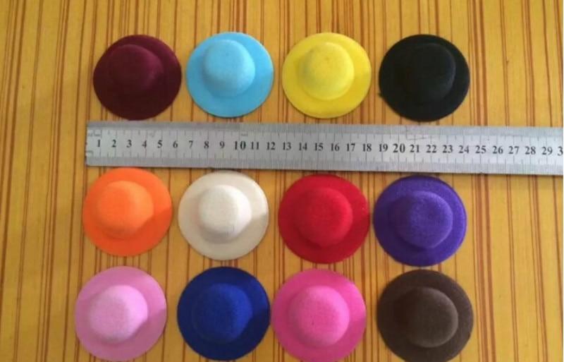 1 pçs mini boneca bonito chapéu headwear para boneca acessórios novos brinquedos para meninas presente nova chegada 9 cores