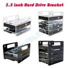 "DEBROGLIE  YJ-Y2G/Y4G Hanging type Acrylic Hard Disk Bracket  Hard-disk cartridge 3.5"" HDD Cage mechanical hard disk box"
