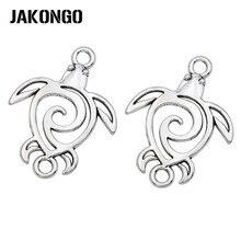 JAKONGO-connecteurs de tortue Antique plaqué argent pour Bracelet, accessoires bijoux à bricoler soi-même faits à la main 37mm x 28mm, 5 pièces