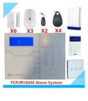 Systeme dalarme de securite domestique  8 zones filaires et 32 zones sans fil  TCP IP GSM  avec interrupteur lumineux Intelligent