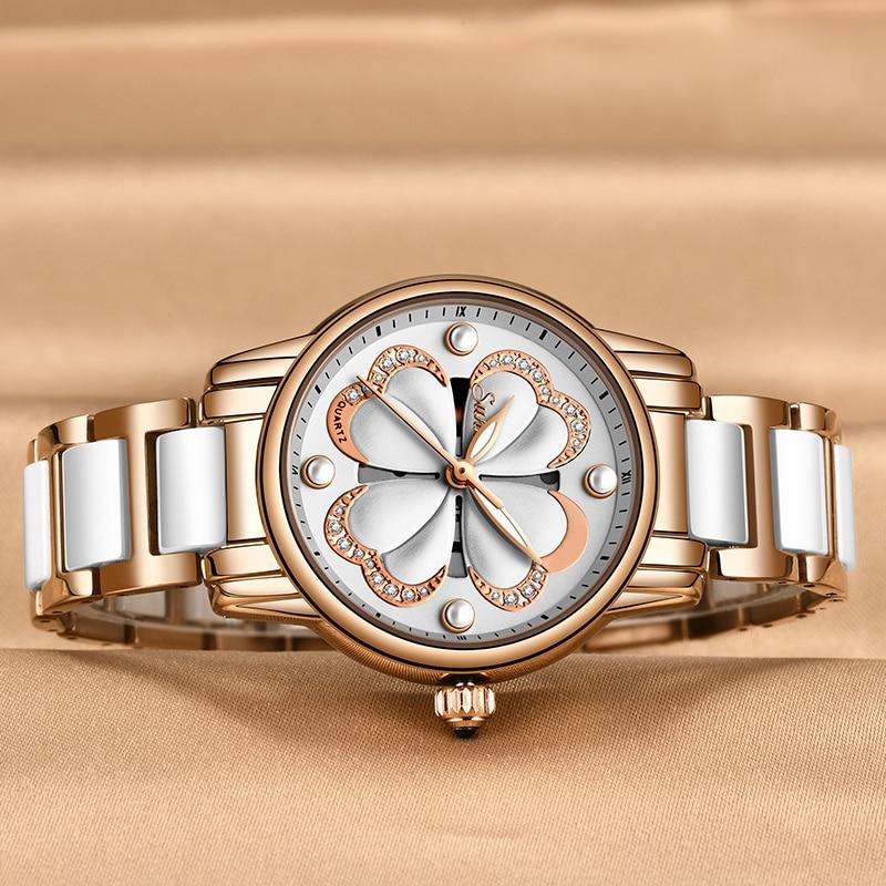 Sunkta Watches Women Fashion Hour Bracelet Watches Luxury Brand Quartz Watch Montre Femme Ceramic Wristwatches Relogio Feminino enlarge