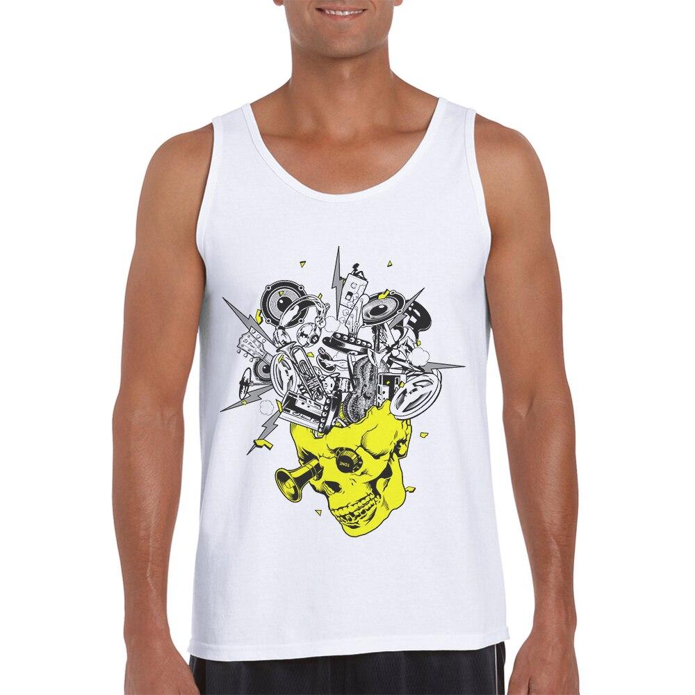 Gran oferta de camisetas Sin Mangas estampadas para hombre, Camiseta Sin Mangas...