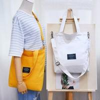 Fashion NEW ins Hot Lady Cotton Canvas Handbag Casual Totes Shoulder Bag Messenger Bags Women Bucket Bag Book Girl for teen