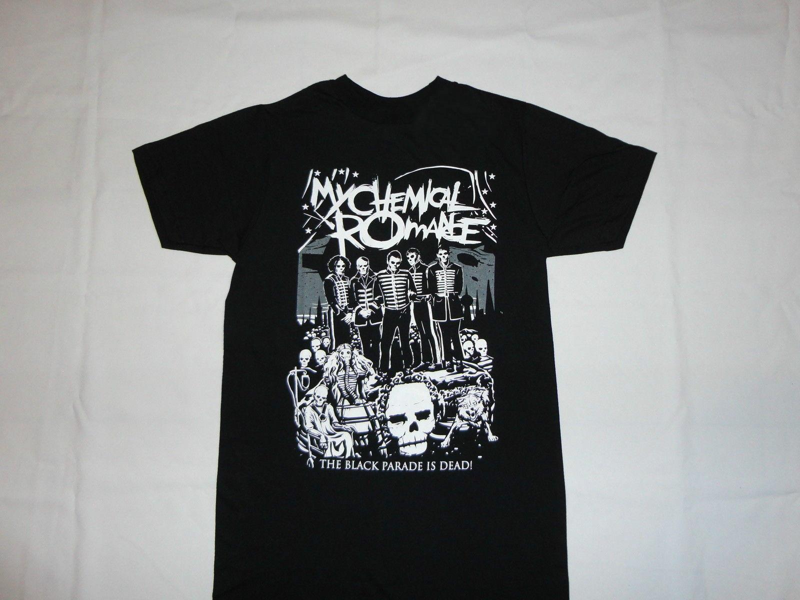 ROMANCE MCR muerto nueva camiseta S-3XL desfile negro EMO PUNK ROCK camiseta del verano nueva 2017 moda verano Top Tee