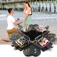 OurWarm DIY Surprise Love Explosion Box Photo Album for Valentine's Day Wedding Box Birthday Suprise Gift 15x15x15cm