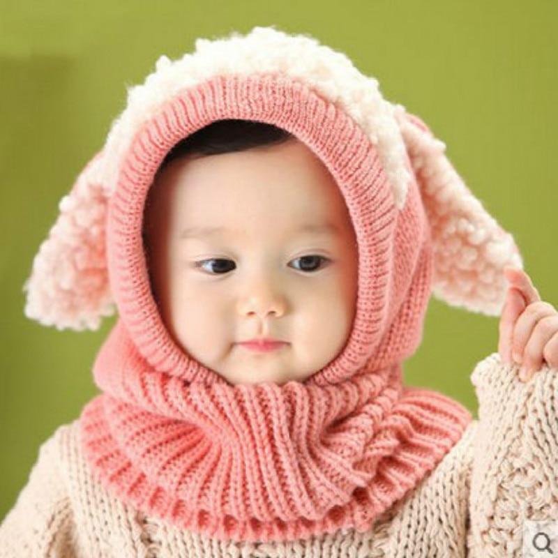 Симпатичные детские шляпы, вязаные крючком шапочки для малышей, детские шапки для мальчиков и девочек, вязаные шерстяные шарфы, шапки, зимня...