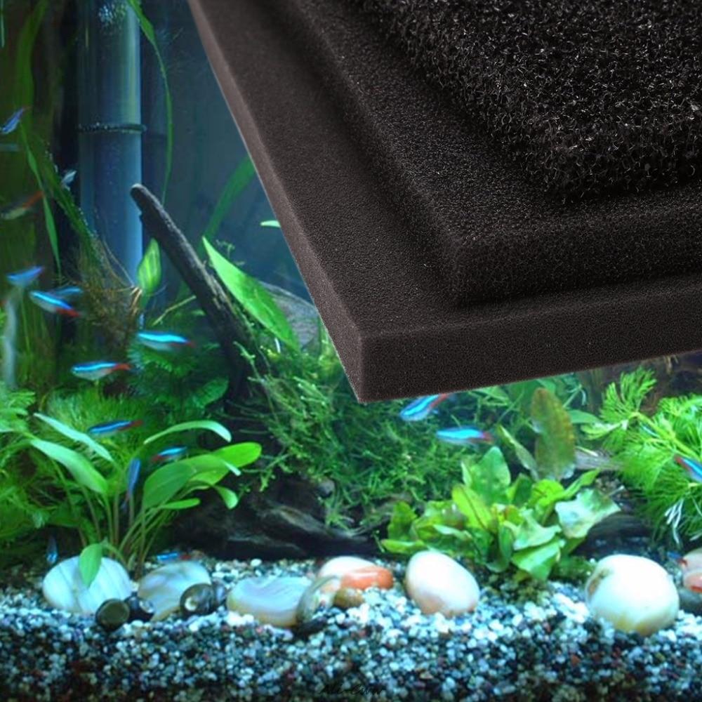 100 x 100 x 2cm Large Block Aquarium Fish Tank Filter Sponge Pad Water Purification Filtration Foam S/M/L hole