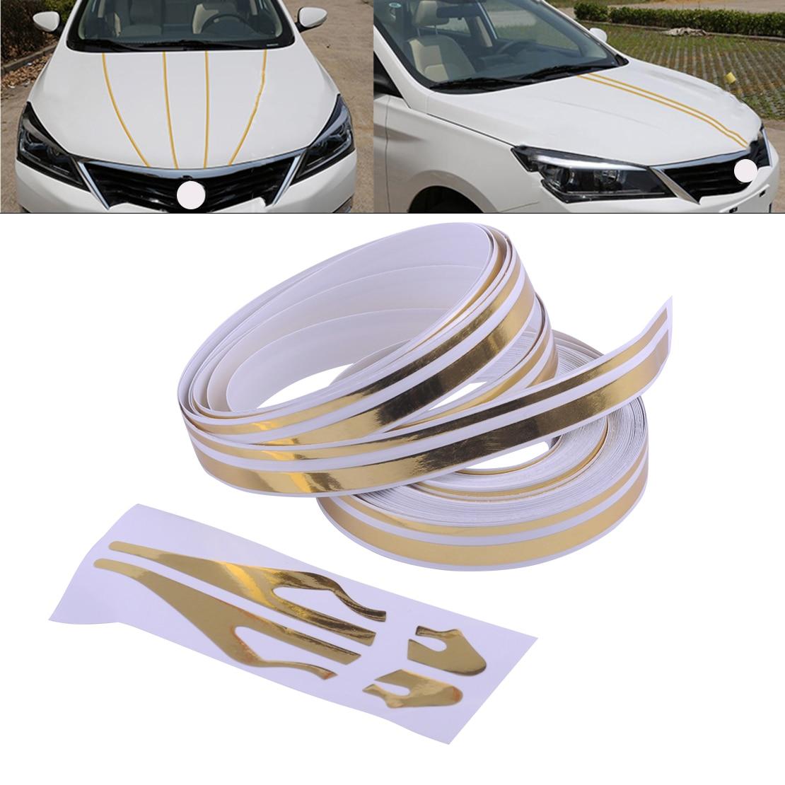 DWCX Car Styling 12mm Striping Sticker Double Line Pin Stripe Streamline Tape Vinyl Roll Decal Fit For VW Audi BMW Mazda Hyundai