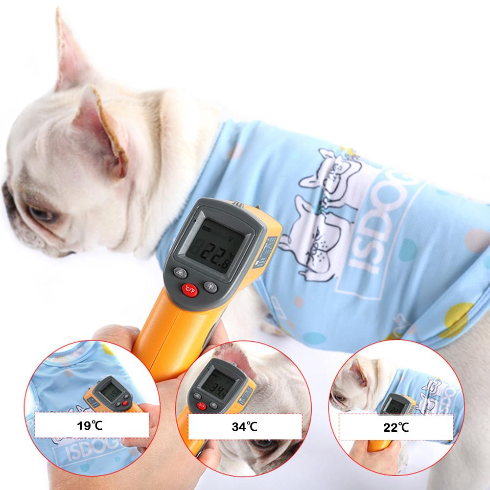 Cão de verão colete de refrigeração cão arnês de resfriamento para cães ajustável pet malha reflexiva colete arnês liberação rápida venda quente