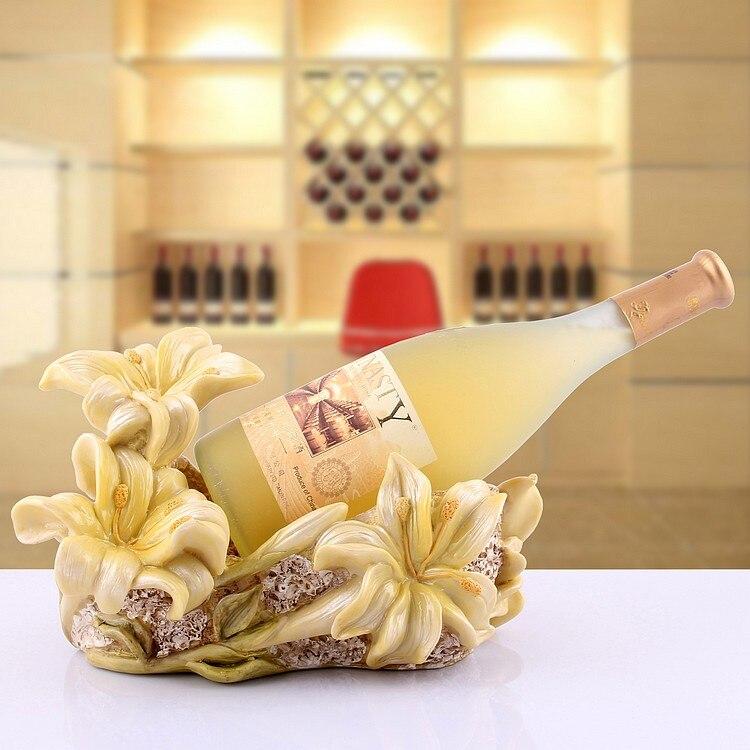 Marco de vino de Pastoral Europea decoración de resina artes y artesanías Chateau Wine OFERTA ESPECIAL