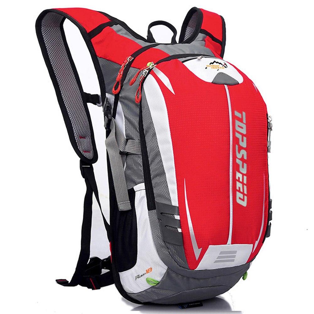 Lightweigt 20L mochila ergonómica impermeable de la bicicleta ventilar la escalada de la bicicleta viajes corriendo mochila deportes al aire libre bolsa de agua