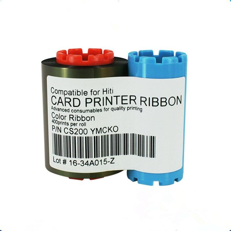 HiTi CS200e YMCKO 400 imágenes cinta original de la impresora de tarjetas de cs-220e cintas de color Universal cinta de la impresora de código