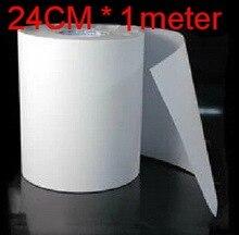 Papier à transfert thermique Mylar 24cm de largeur   Film aluminium Hotfix, bande adhésive, strass, fer sur le plastique PVC