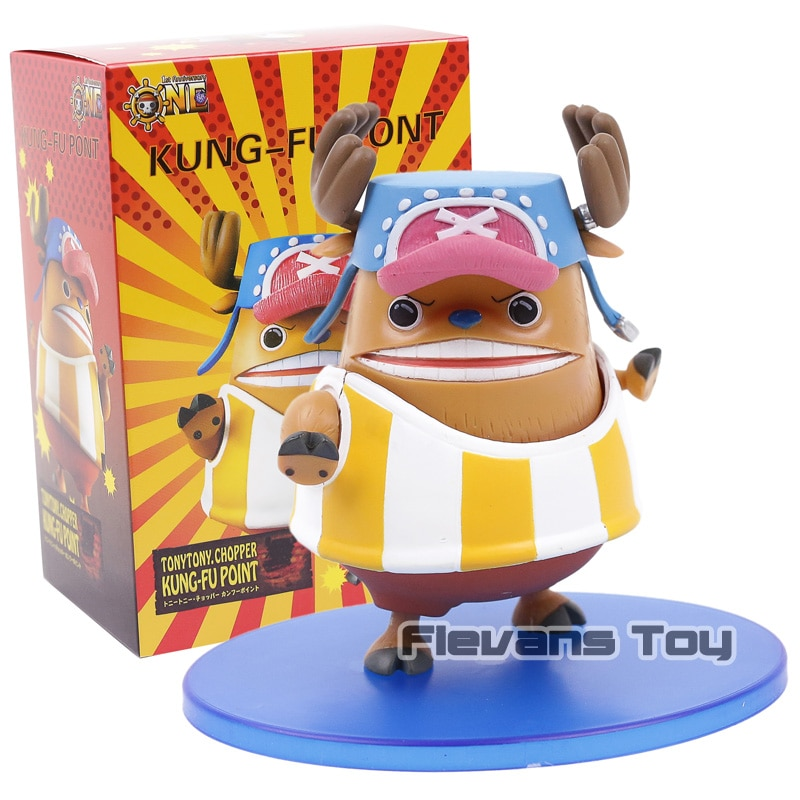 One Piece Sailing Novamente Tony tony Chopper Kung Fu Pont PVC Figure Toy Collectible Modelo Boneca