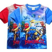 Children's summer pure cotton T - shirts Legoe Ninjago cartoon clothing baby boys Superhero Short Sleeves tops tees