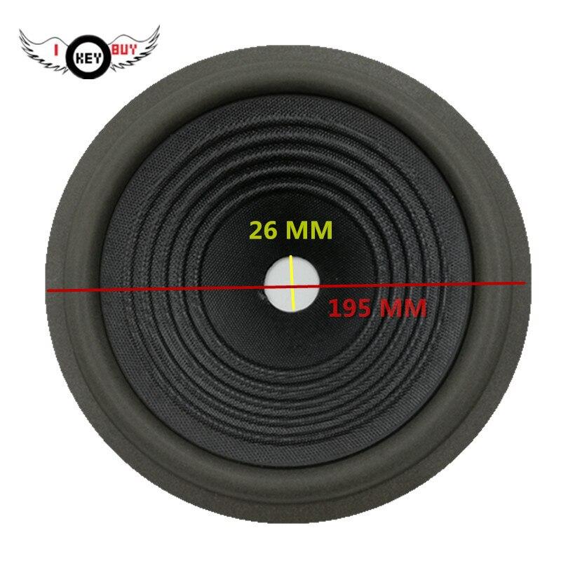 2 stücke 8 Zoll Woofer Papier Kegel Bass Lautsprecher 195mm Blase Schaum Edge Well Welle Gewinde Trommel Papiere Becken 26 mm core 43 Höhe