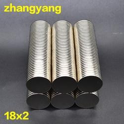 10/30/60 pces 15x2 neodímio ímã 15mm x 2mm n35 ndfeb redondo super poderoso forte permanente magnetitic 18mm x 2mm