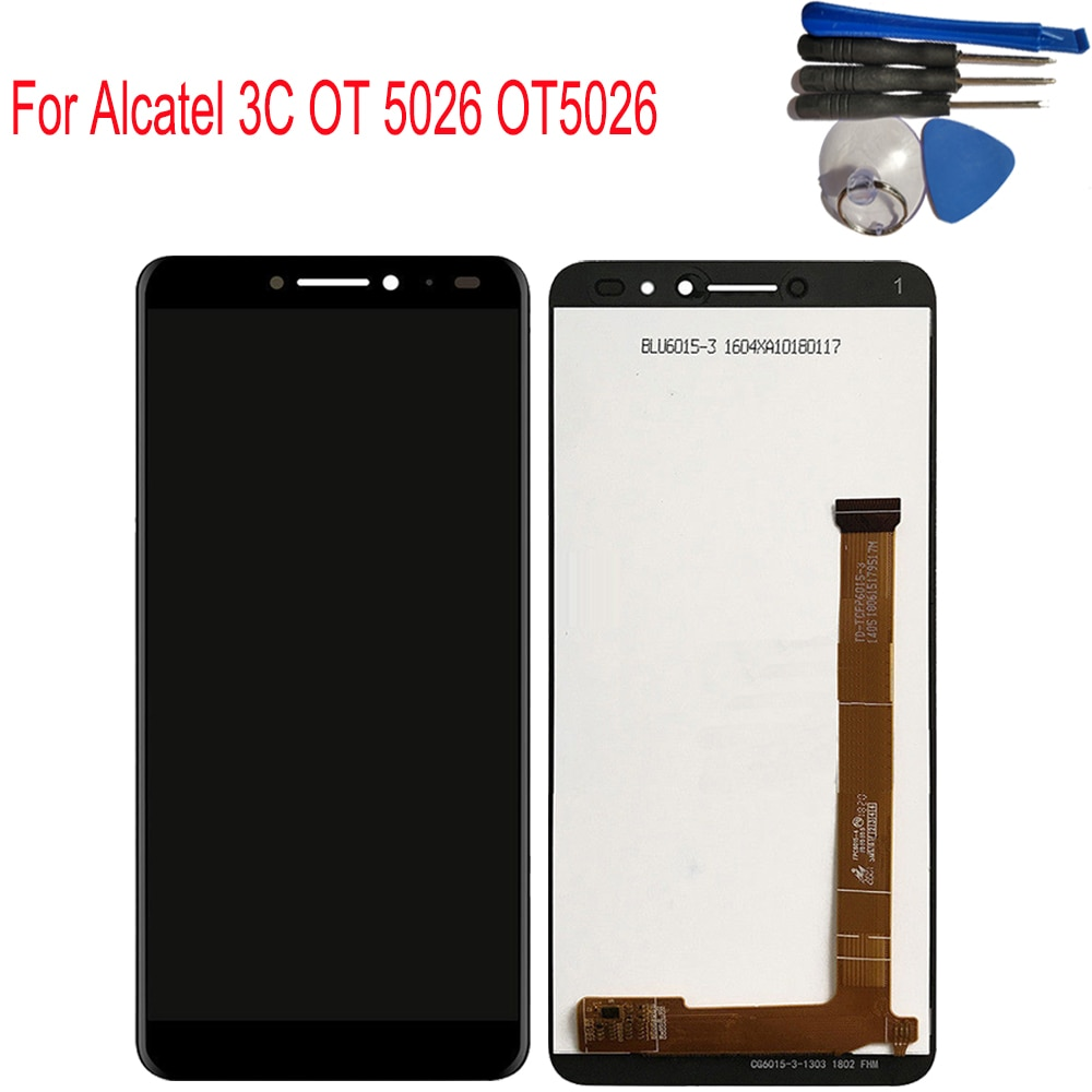 "6,0 ""para Alcatel 3C 5026 OT5026 LCD pantalla digitalizador pantalla táctil montaje para Alcatel 3C 5026D OT 5026 + herramientas"