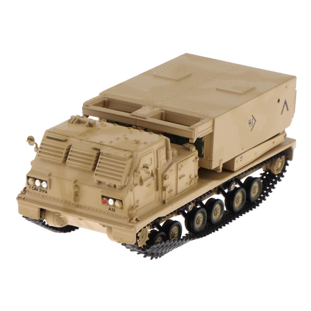 1/72 US M270, sistema de lanzamiento múltiple de cohetes, modelo-2003 MLRS, Kits de artillería y tanques autopropulsados, modelo del ejército de vehículos lanzadores