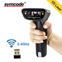 Wireless Barcode Scanner,Symcode 1D Laser Handheld USB Wireless Barcode Reader,User for Supermarket,