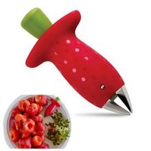 Outil dépluchage pour le noyau de fraises   Métal, plastique feuilles de fruits, couteau dissolvant de tige, Gadget décortiqueurs de fraises, outil de cuisine