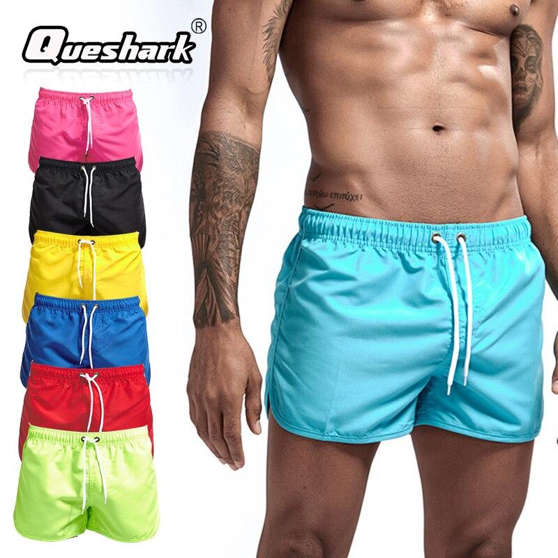 Traje de baño para hombre Queshark, pantalones cortos de playa, pantalones cortos de baño, bañadores de secado rápido, pantalones cortos de surf, traje de baño para gimnasio para hombre, deporte, correr