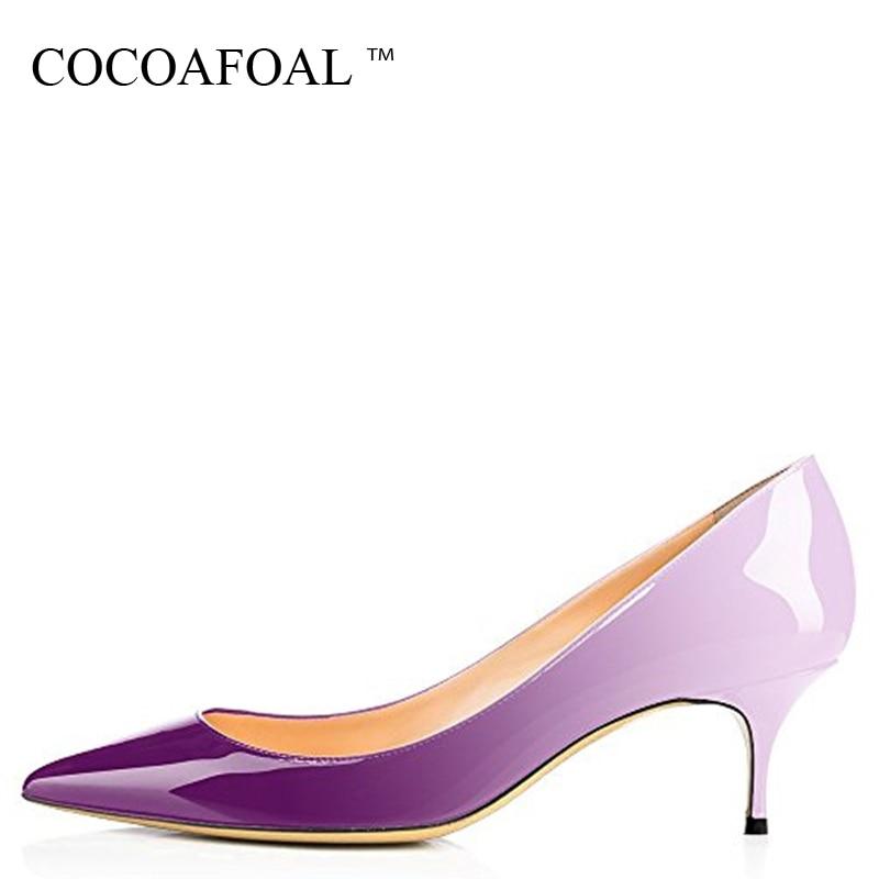 COCOAFOAL tacones de Mujer Zapatos de leopardo talla grande 43 44 fiesta Sexy zapatos púrpura azul blanco verde rosa Stiletto zapatos de novia