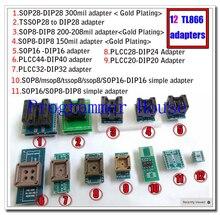 12 pièces adaptateurs Universels prise pour programmeur vs4800 tnm5000 TL866A TL866cs TL866II Plus ezp2010 2013 2019 G540 EZP2010 TOP3000