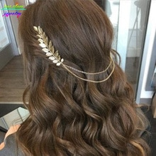 Style dété bohême feuilles tête couronne chaîne et feuilles peigne à cheveux accessoires de cheveux de mariage Bijoux
