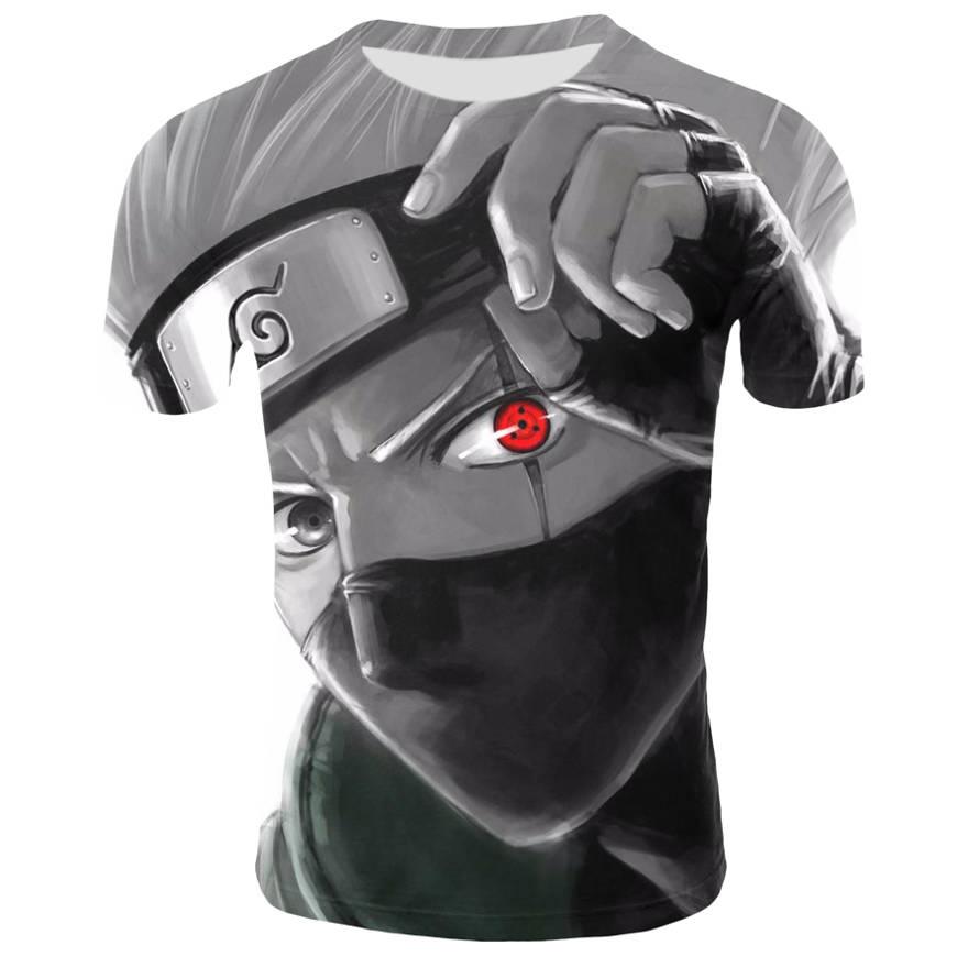 Anime Naruto kakashi camiseta hombres mujeres 3D camiseta naruto cosplay sudaderas naruto figura de acción kakashi camisetas hombres camisetas