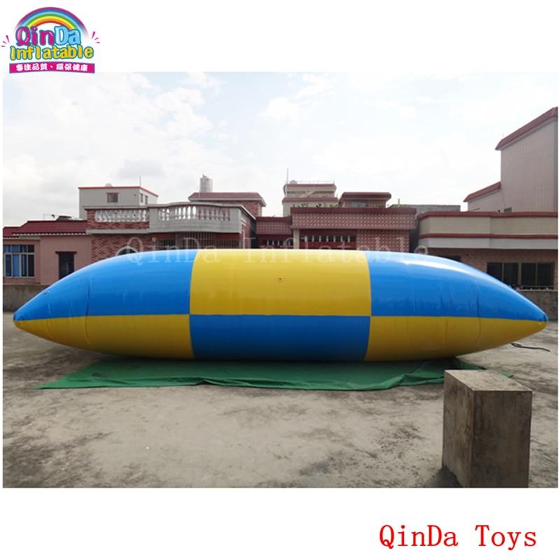 Bolsa de saltos inflables con bomba de aire gratis, Catapulta de agua inflable de 6m de largo a la venta