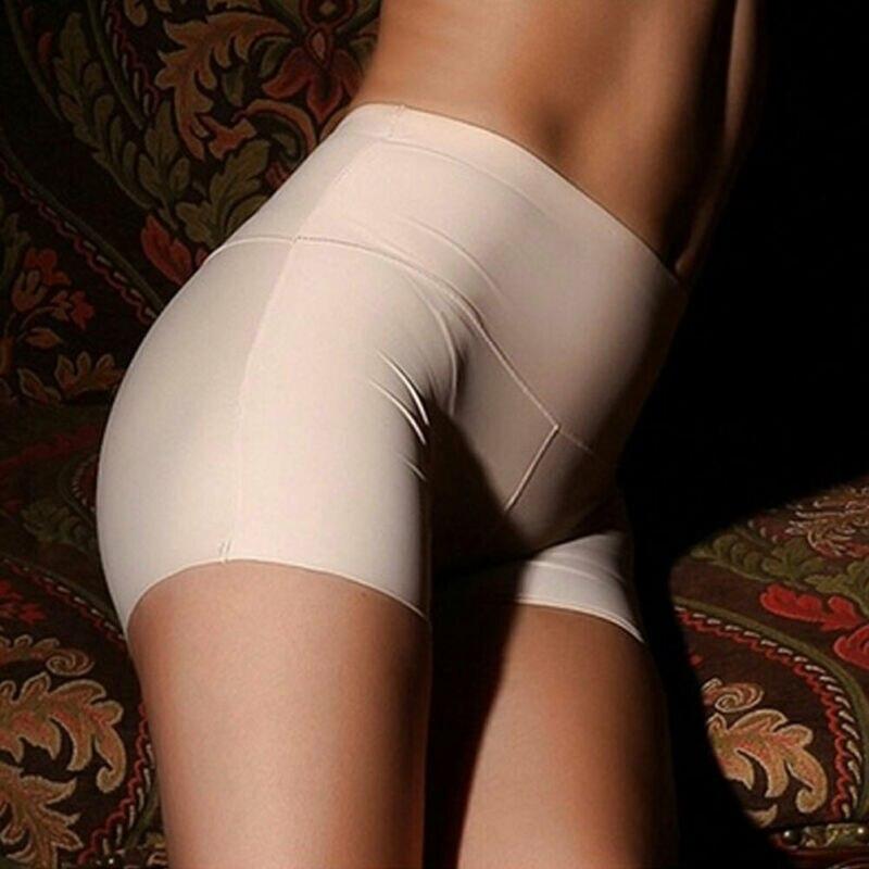 Womens Ice Silk Safety Shorts Seamless Boxer Briefs Underwear Boyshort Female High Waist Casual Solid Skinny boxer shorts