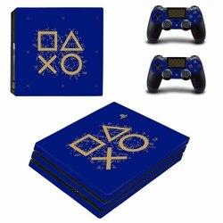 Days Of Play Ограниченная серия PS4 Pro наклейка на кожу для консоли PlayStation 4 и 2 контроллера PS4 Pro виниловая наклейка на кожу
