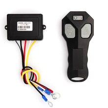 DC 12V Winch Wireless Remote Control Winch+Receiver Kit Push Start Stop Switch 100FT for Jeep Car Truck ATV SUV UTV Warn 433MHz