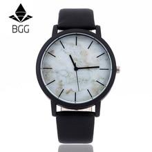 Marbling Dial 2018 BGG Brand New Fashion Casual Mens Watches High Quality Quartz Watch Men Clock relogio masculino Waterproof