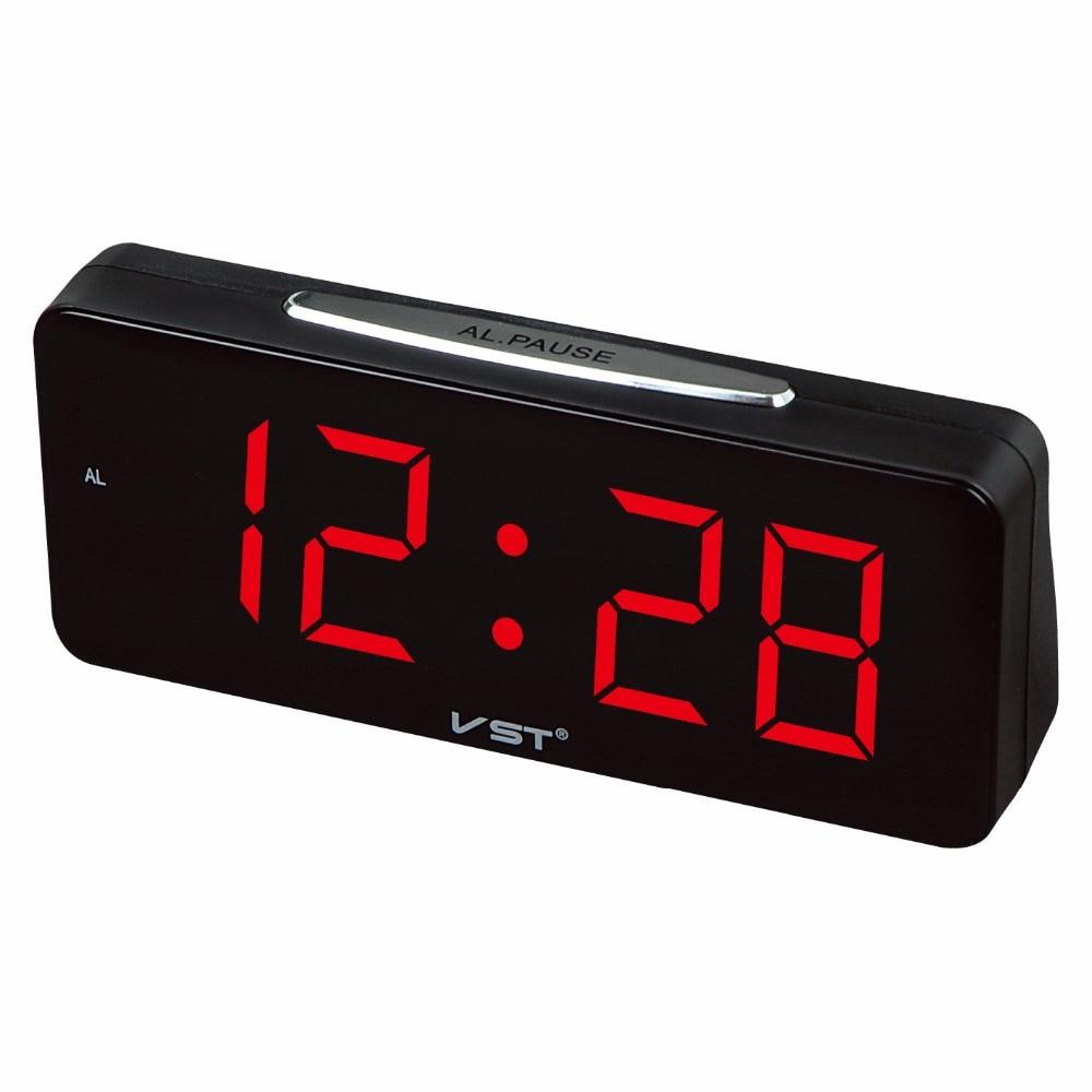 Big numbers electronic desktop Clock Digital LED Alarm Clock EU Plug AC power Table Clocks With 1.8 Large Display home decor led