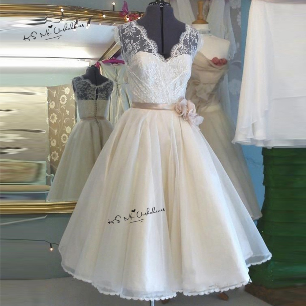 Vestido de Novia Corto hasta la rodilla Bohemia boda, vestidos de Novia...